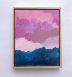 Original acrylic abstract artwork Summer Sunset, Floating Frame, Original Artwork, Artworks, Photo And Video, The Originals, Canvas, Painting, Abstract