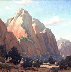 """Mountain of the Sun,"" Ron Rencher, oil on linen Western Landscape, Landscape Art, Landscape Paintings, Oil Paintings, Landscapes, Desert Art, Park Art, Southwest Art, Painting Inspiration"