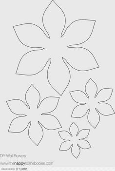 The Happy Homebodies: 2 Free DIY Modern Wall Art Printables! These would make great applique flowers for a quilt! Pattern : flower template-felt flowers for busy bag Risultati immagini per giant paper flower patterns I always liked these wallflowers Giant Paper Flowers, Felt Flowers, Diy Flowers, Fabric Flowers, Paper Butterflies, Peony Flower, Lotus Flower, Flower Wall, Diy Paper