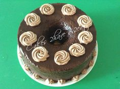 CHOCOLATE CHIFFON CAKE FILLED WITH CAPUCCINO WHIPPED CREAM FILLING AND COVERED IN CHOCOLATE GLAZE! DELICIOUS, SOFT AND YUUMY!