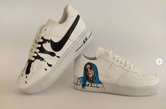 Air Force Sneakers, Nike Air Force, Sneakers Nike, Billie Eilish, Dad And Son Shirts, Painted Sneakers, Nike Cortez, Dads, Shoes