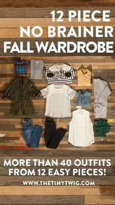 """Definitely have most of this in my closet. Easy fall fashion. This is BRILLIANT! """"12 Piece No-Brainer Fall Wardrobe"""""""