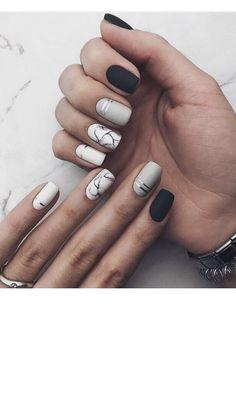 Pin by Lisa Firle on Nageldesign - Nail Art - Nagellack - Nail Polish - Nailart - Nails in 2020 White Acrylic Nails, Best Acrylic Nails, Acrylic Nail Designs, Summer Acrylic Nails, Spring Nails, Summer Nails, Chic Nails, Stylish Nails, Trendy Nails