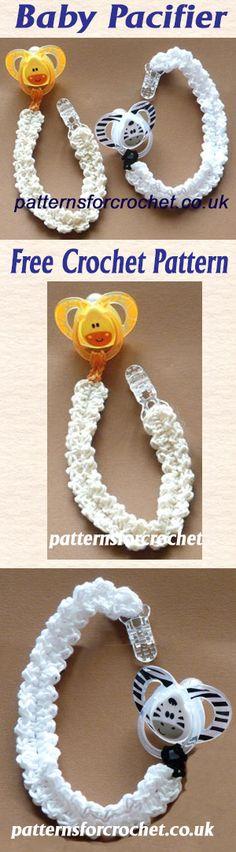 Baby pacifier, free crochet pattern. #crochet
