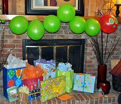 Very Hungry Caterpillar balloons - 1st Birthday