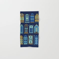 Moroccan Doors – Navy Palette Hand & Bath Towel by Cat Coquillette. Worldwide shipping available at Society6.com. Just one of millions of high quality products available.