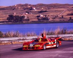 Alfa Romeo won the World Sportscar Championship in 1975 and 1977. Here is the 1977 Alfa Romeo T33/SC/12, driven by Spartaco Dini at Enna-Pergusa, Sicily. The car used a spaceframe chassis and a 2.1 litre fuel injected, twin turbo 4 valve V12, producing circa 640bhp. Dini practiced the car but did not start. This car driven by Francia / Merzario DISQ for a startline infringement. Arturo Merzario won in another Alfa Romeo SC12.