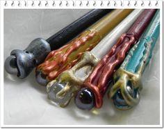 magical wooden hair sticks