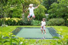 Sunk in trampoline great idea