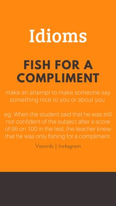attempt to make someone say something nice to you or about you. Slang English, English Idioms, English Phrases, English Writing, Advanced English Vocabulary, English Vocabulary Words, Learn English Words, English Language Learning, Teaching English