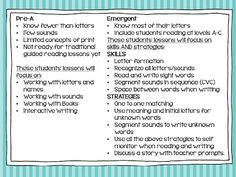 A Differentiated Kindergarten: Chapter Three of the Next Step: Non-readers and Emergent Guided Reading Tips, Skills and a Couple of Freebies//Great reading resources!