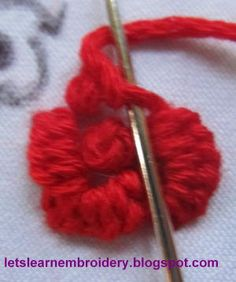 Let's learn embroidery: Rose-buttonhole knot