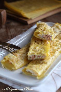 CANNELLONI AL SAMONE E RICOTTA realizzati con la pasta per lasagne e senza besciamella, ma molto morbidi  #Gialloblogs #ricetta #salmone