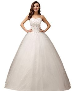 atopdress@ XF06 Wedding bride wear big day dress eveing ball prom dress party wear (18, Ivory)