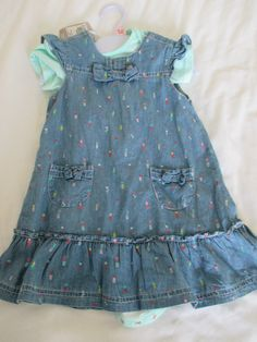 Girls Denim Dress Set With Vest 18-24 Months Tu Sainsburys New With Tags • £6.99 - PicClick UK