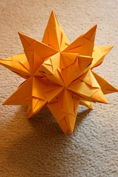 Origami 20-point star for Tree Topper and hanging room decor!
