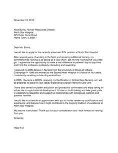 professional cover letter samples
