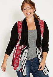plus size cardigan in ethnic pattern - maurices.com