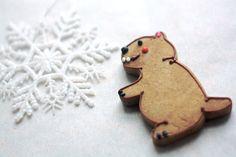 Groundhog Gingerbread Cookie