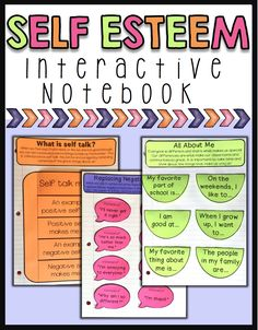 Includes 8 interactive notebook pages to help students learn about self esteem. Students will learn self esteem concepts such as celebrating their strengths, accepting differences, positive self talk, and spreading kindness to others. Great to use in self esteem small groups or guidance lessons!