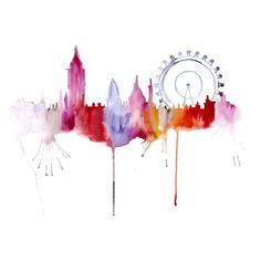London city scape by artist Elena Romanova
