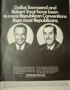gop convention 1968 | CBS Radio Dallas Townsend and Robert Trout Republican Convention (1968 ...