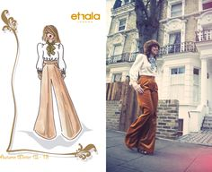 Autumn Winter 2012 Preview.  Cotton Velvet Palazzo trousers + pure silk blouse.   http://etralalondon.blogspot.co.uk/2012/07/aw-1213-exclusive-preview-for-our.html