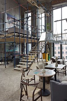 Art bar Door 19 spearheads move to transform Moscow's riverside warehouse district... http://www.we-heart.com/2014/11/10/door-19-artkvartal-moscow/