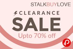 StalkBuyLove brings Clearance Sale and offering Upto 70% Off on Women's #Dresses, #Tops, #Skirts, #Scarves and #accessories.   http://www.paisebachaoindia.com/stalkbuylove-clearance-sale-upto-70-off-stalkbuylove/