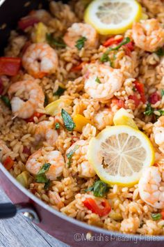 This One Pot Veggie Shrimp Orzo is the perfect weeknight meal. Lots of crisp veggies, succulent shrimp, fresh basil and a secret spice make this meal a favorite in our family!
