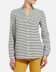 striped blouse- perfect for casual outfits AND office wear