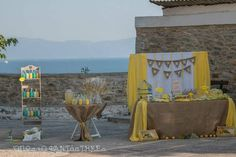 Yellow baptism decoration