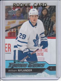 Upper Deck Series One Hockey Young Guns Oversized William Nylander # 249 Hockey Cards, Baseball Cards, William Nylander, Maple Leafs Hockey, Hockey Birthday, Nhl Season, Young Guns, Toronto Maple Leafs