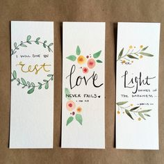 Watercolor Bookmarks, Easy Watercolor, Watercolor Cards, Watercolor Paintings, Watercolors, Creative Bookmarks, Cute Bookmarks, Bookmark Craft, Handmade Bookmarks