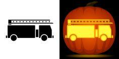 Pumpkin Carving Stencils Easy, Halloween Pumpkin Stencils, Easy Pumpkin Carving, Pumpkin Carving Templates, Halloween Pumpkins, Halloween Fun, Firefighter Halloween, Pumpkin Template, Painted Pumpkins