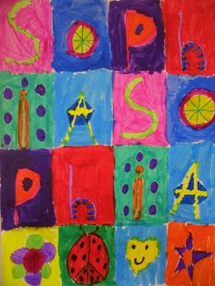DREAM DRAW CREATE Art Lessons for Children: Name Patterns Inspired by Jasper Johns