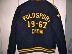POLO RL Letterman/Varsity jacket. Vintage? Fits like S. Rare... | eBay