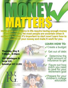 #MoneyMattersNY #NYC #Financial Education