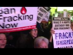 500+ Rally for a Ban on Fracking Outside Gov Cuomo's Birthday Fundraiser