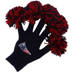 NFL New England Patriots Navy Blue Spirit Fingerz by WinCraft. $24.95. Elastic rib-knit cuffs. Imported. Quality embroidery. One size fits most. Team-colored poms. New England Patriots Navy Blue Spirit FingerzElastic rib-knit cuffsImported90% Acrylic/9% Polyester/1% Spandex body; 100% Acrylic pomsTeam-colored pomsQuality embroideryOne size fits mostOfficially licensed NFL product90% Acrylic/9% Polyester/1% Spandex body; 100% Acrylic pomsOne size fits mostElastic rib-knit cuffsQu...