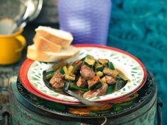 Low Carb Rezept: Lammragout mit Auberginen