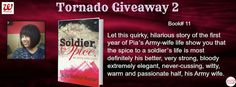 Lets get to know the quirky, hilarious story of an army wife's life.#TornadoGiveaway #thebookclub