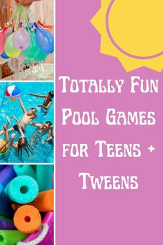 Totally Fun Pool Games for Teens + Tweens - Peachy Party Summer Party Games, Pool Party Games, Fun Games, Games To Play, Cool Swimming Pools, Cool Pools, Teenage Pool Party, Games For Teens, Water Balloons