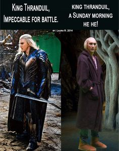 I just need this picture of Lee dressed as Thranduil wearing uggs and a dressing-gown pinned on my bedroom wall for the rest of my ife