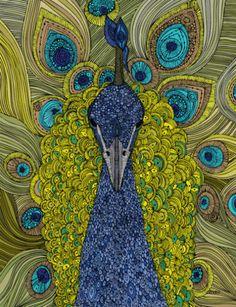 Peacock animated gif by Dr. Rev. ΘZNΣΘ™ (from Valentina Harper, maybe?)