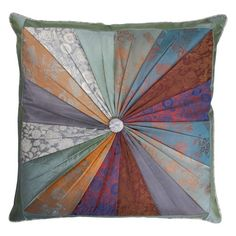 The Silk MarketJacquard Pillow from Ten Thousand Villages is handmade by fairly paid artisans in Vietnam and features the beautiful colors of earth and sky. #home #decor #fairtrade