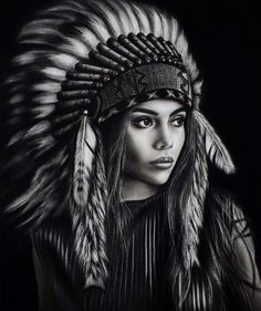 Drawing Timelapse : Pretty Girls Face Looks Unblievably Real/Hyperrealistic Art American Indian Girl, Native American Girls, Native American Beauty, Native American Photos, Native American Drawing, Native American Tattoos, Native Tattoos, Indian Girl Tattoos, Asian Tattoos