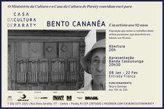 08 janeiro | Quinta - 20h - Abertura Exposição Bento Cananéa - Um artista aos 92 anos na Casa da Cultura de Paraty.  #CasaDaCulturaParaty #exposição #fotografia #cultura #arte #turismo #BentoCananéa #Paraty #PousadaDoCareca
