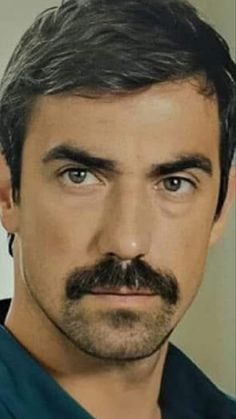 Walrus Mustache, Moustache, Jaw Line, Turkish Actors, Beautiful, Black And White Love, Guys, Mustache, Moustaches