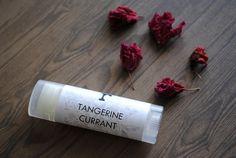 Tangerine Currant Lip Balm #summer #lips #lipbalm #spa #gift #women #chapstick #tangerine #orange #currant #etsy #handmade #bathandbeauty